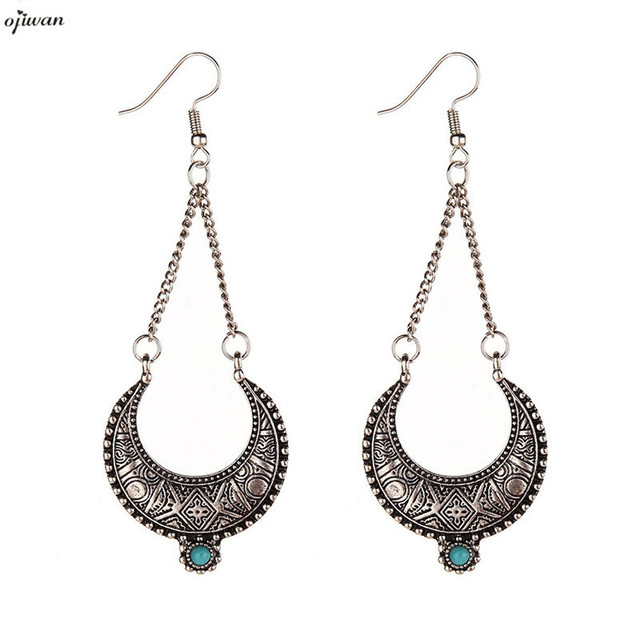 Aritos tribal earrings for women gypsy earrings hippie chandelier aritos tribal earrings for women gypsy earrings hippie chandelier earrings indian native american jewelry crescent moon aloadofball Images