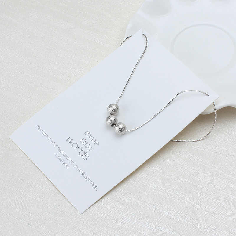 1 pc minimalistyczny naszywka dla trzech słowa karta życzeń Choker Collier naszyjniki linki łańcuchy złota płyta dla kobiet oświadczenie biżuteria prezent