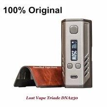 100%เดิมหายไปVape Triade DNA 250วัตต์กล่องบุหรี่อิเล็กทรอนิกส์สมัยEvolvของDNA250ชิปเซ็ตTriple 18650สมัย