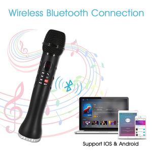 Image 5 - Professional Karaoke Microphone 3 in 1 Recording Wireless Speaker with Bluetooth for Phone For Ipad Condenser Microphone XIAOKOA