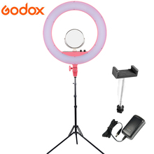 LR160 18W 3300K-8000K LED Ring Light Lamp Color Temperature Adjustable LCD Screen Photography + 2M Stand Tripod