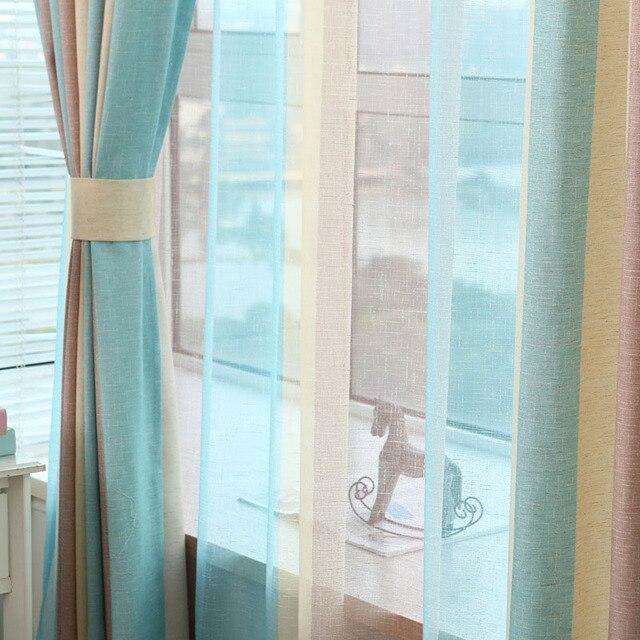 Tiyana Moderno Ed Elegante Multi Banda di Colore Della Finestra Tende Tende per Soggiorno Camera Da Letto di Qualità Tenda Pura Complementi Arredo Casa P391D2