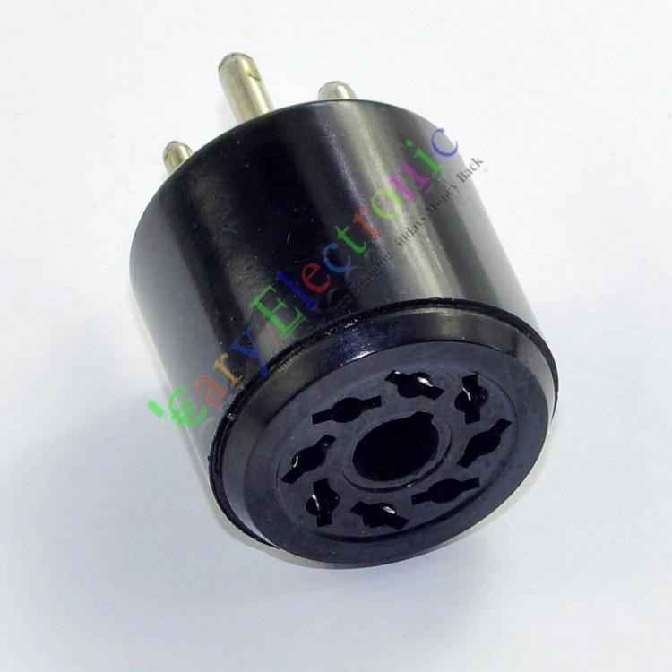 Оптом и в розницу 60 шт. Бакелит Вакуумная Трубка Разъема Адаптера аудио 4-контактный для 8pin 5U4G GZ37 для Z3 80 бесплатно доставка