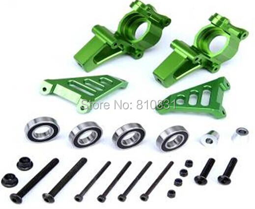 Baja CNC Alloy front hub carrier Set Baja Front Knuckle arm bearing set - 1/5 scale HPI KM baja 5b 5t 85115 alloy front hub carrier for 1 5 hpi baja 5b 5t 5sc