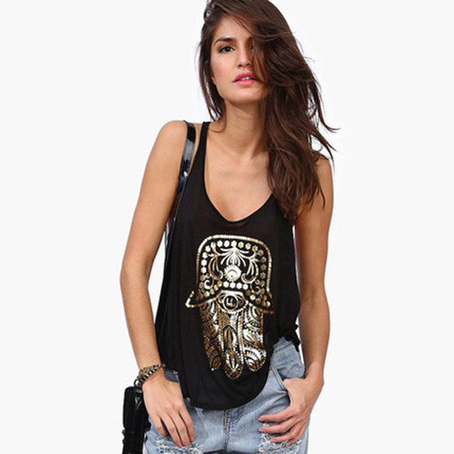 Hight Street Casual Tops 2017 Summer Black Print Hot Sale Fashion New Sleeveless Tassel Patchwork Cotton Luxury Tank Top