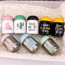 220ml Creative Cactus Flamingo Letter Pattern Vacuum Flask Thermos Bottle Stainless Steel Portable Kids Travel Drink Thermo Mug
