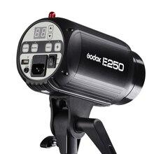 Godox speedlite flaş E250 Pro fotoğraf stüdyosu Strobe fotoğraf flaş işığı lambası 250W stüdyo flaş 220V ve 110V sıcak satış