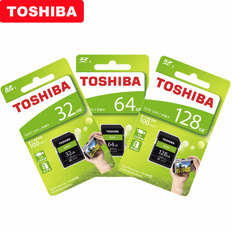 Image 5 - Original TOSHIBA  High Speed Memory SD N203 32G 64G 128G U1 SD Card Support Full HD Shooting for Canon Nikon Digital SLR Camera-in Memory Cards from Computer & Office