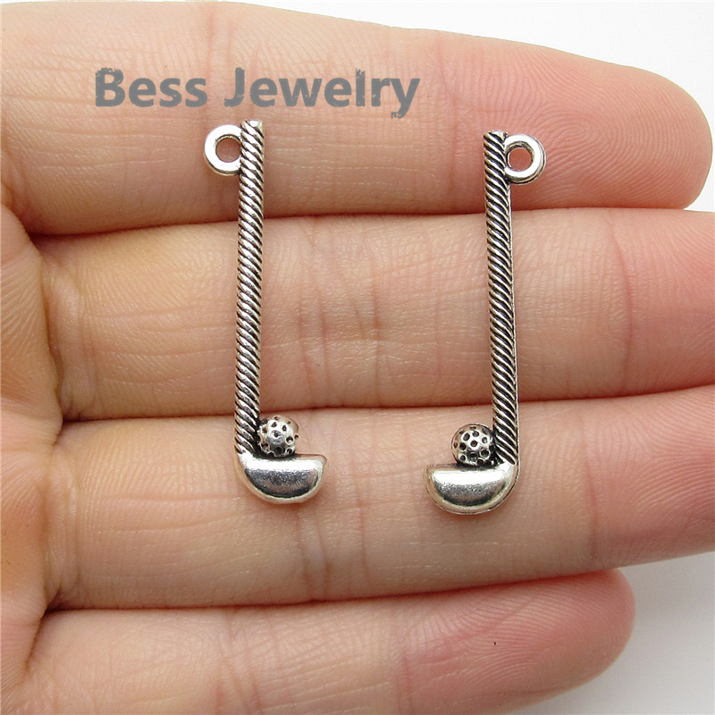 50pcs(32*8mm) Tibetan Silver Golf clubs Charms fit for pandora style Jewelry Making DIY Handmade Craft