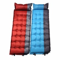 CQD 1003 Comfortable Inflatable Air Mattress Pillow Folding Sleeping Bed Moistureproof Camping Travel Sleeping Air Bed