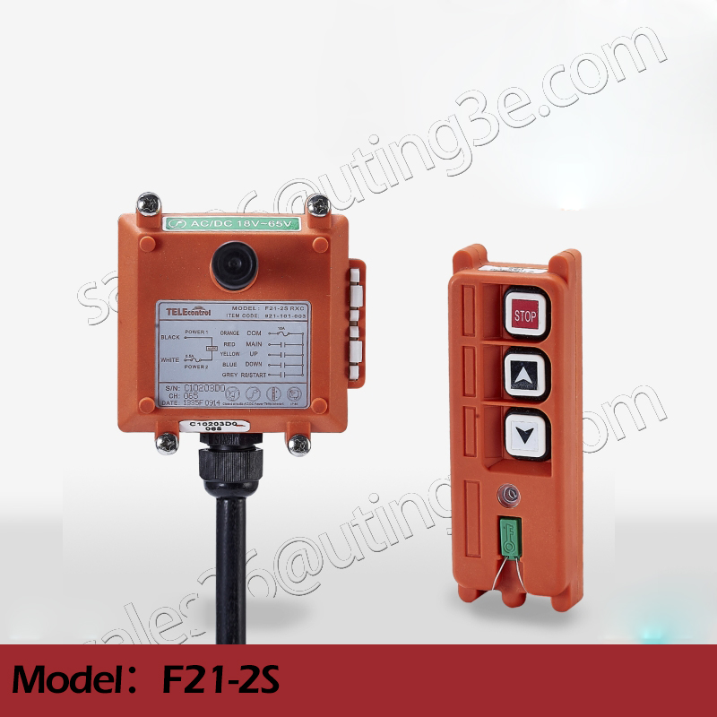 Telecontrol F21-2S industrial radio remote control AC/DC universal wireless control for crane 1transmitter and 1receiver free shipping rf21 e1b industrial universal wireless radio remote control for overhead crane