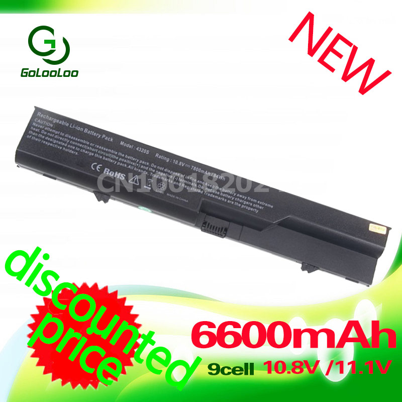 Golooloo Battery For HP ProBook 420 425 4320t 620 625 4320s 4326s 4321S 4325s 4520s 4525s for COMPAQ 320 321 325 326 420 421 аккумуляторная батарея topon top 4320 4800мач для ноутбуков hp 425 4320t 625 probook 4320s 4321s 432