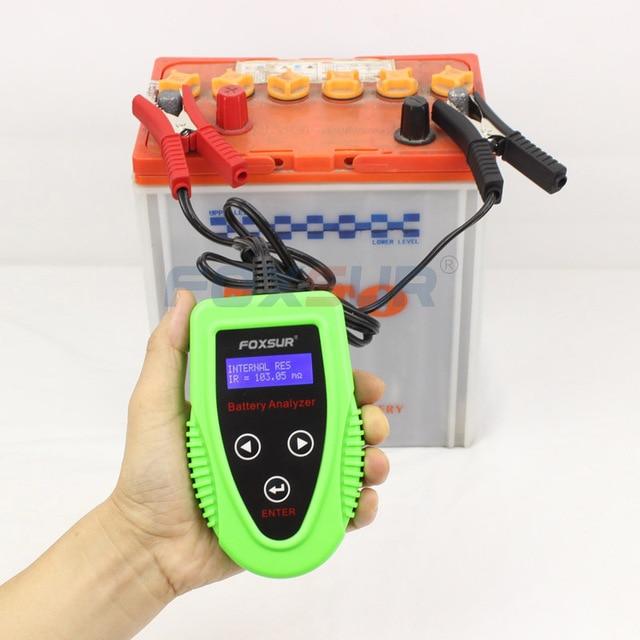 FOXSUR 12 V digitale Batterij Analyzer auto batterij tester Professionele Diagnostic Tool voor loodaccu CCA IR SOH meting