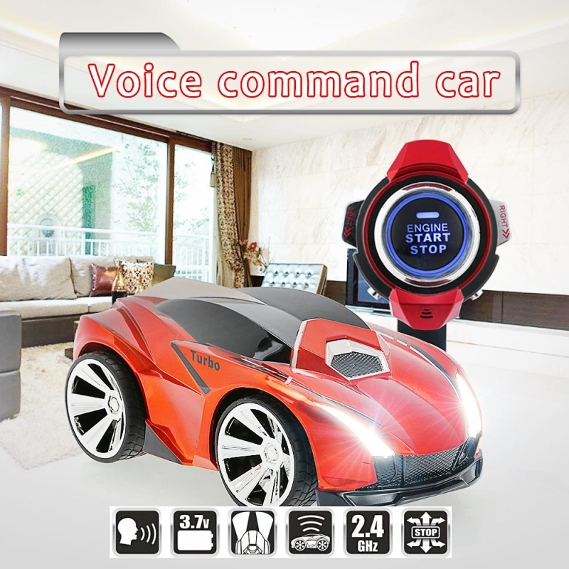 voice command car R-102 with smart watch 2.4G 4CH RC Car remote control outside educational toy best gifts for kids vs AAA25896