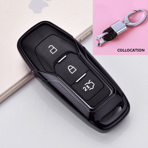 Image 4 - 2019 Soft TPU Key Cover Case For Ford Fusion Mondeo Mustang F 150 Explorer Edge 2015 2016 2017 2018 Car Styling Key Protection