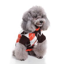 Pet Winter Autumn Dog Clothes Christmas Sweater Classic Diamonds Pattern Leisure Chic Argyle All Over Dog Pet Sweater(China)