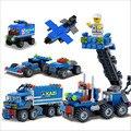 Super Cool 163pcs Transport Dumper Truck DIY Model Building Blocks Can Build 8 Shapes Educational Toys Kids Gifts Wholesale