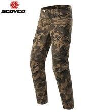 Scoyco P043 защитные джинсы наколенники Rider брюки мото rcycle гоночные брюки для отдыха pantalones moto синий/черный