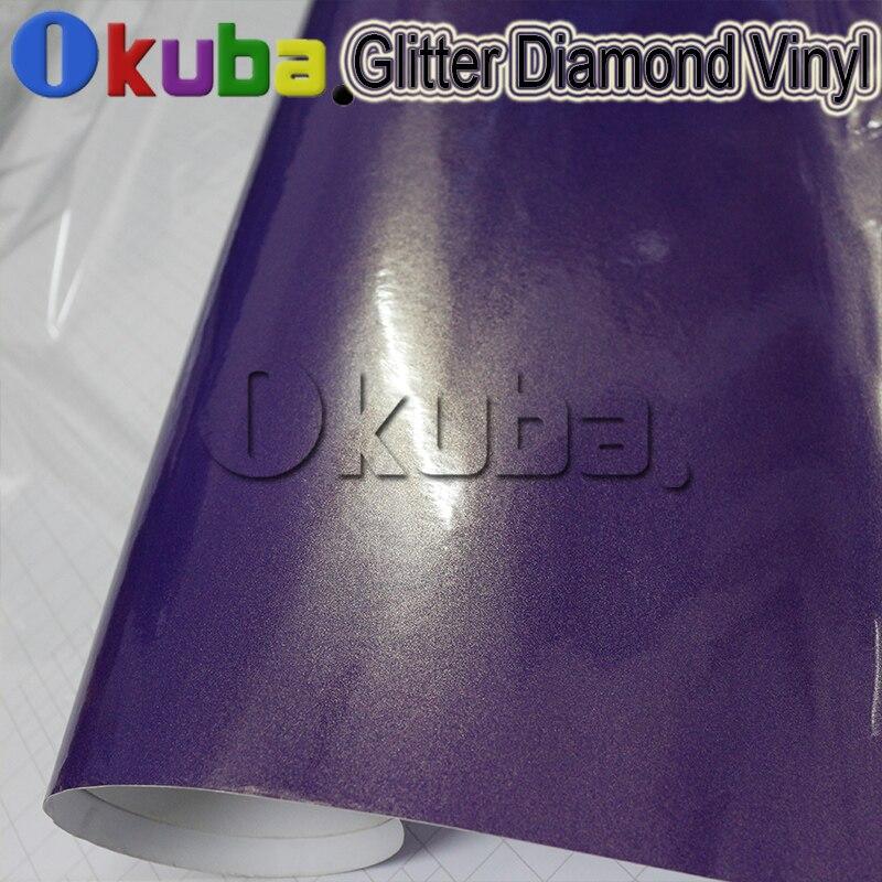 3 слоя конфеты фиолетовый жемчуг вспышки алмазной пленки лист высокоглянцевые Роскошные блестящие алмазов винил автомобиля Обёрточная бум