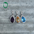 Art Decoration Pear Cut 8x12mm Amethyst / Citrine / Topaz Charms  for Party & Engagement