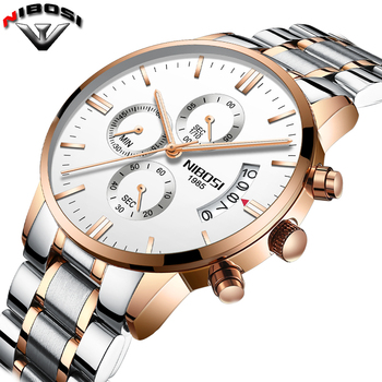 Nibosi Luxury Stainless Steel Waterproof Men Quartz Watches 1