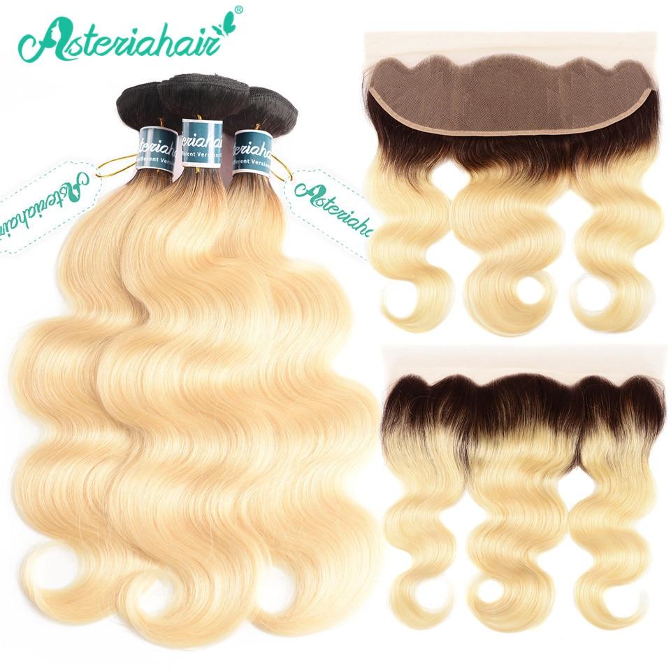 Honey Blonde Bundles With Closure 3 4 613 Body Wave Brazilian 100% Human Hair Iwish Remy Hair Blonde Weave Human Hair Weaves Hair Extensions & Wigs
