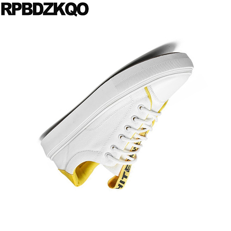 Sneakers New 2018 Lace Up Rubber Comfort Summer Breathable Skate Trainers White China Designer Men Canvas Shoes Casual High Top 5