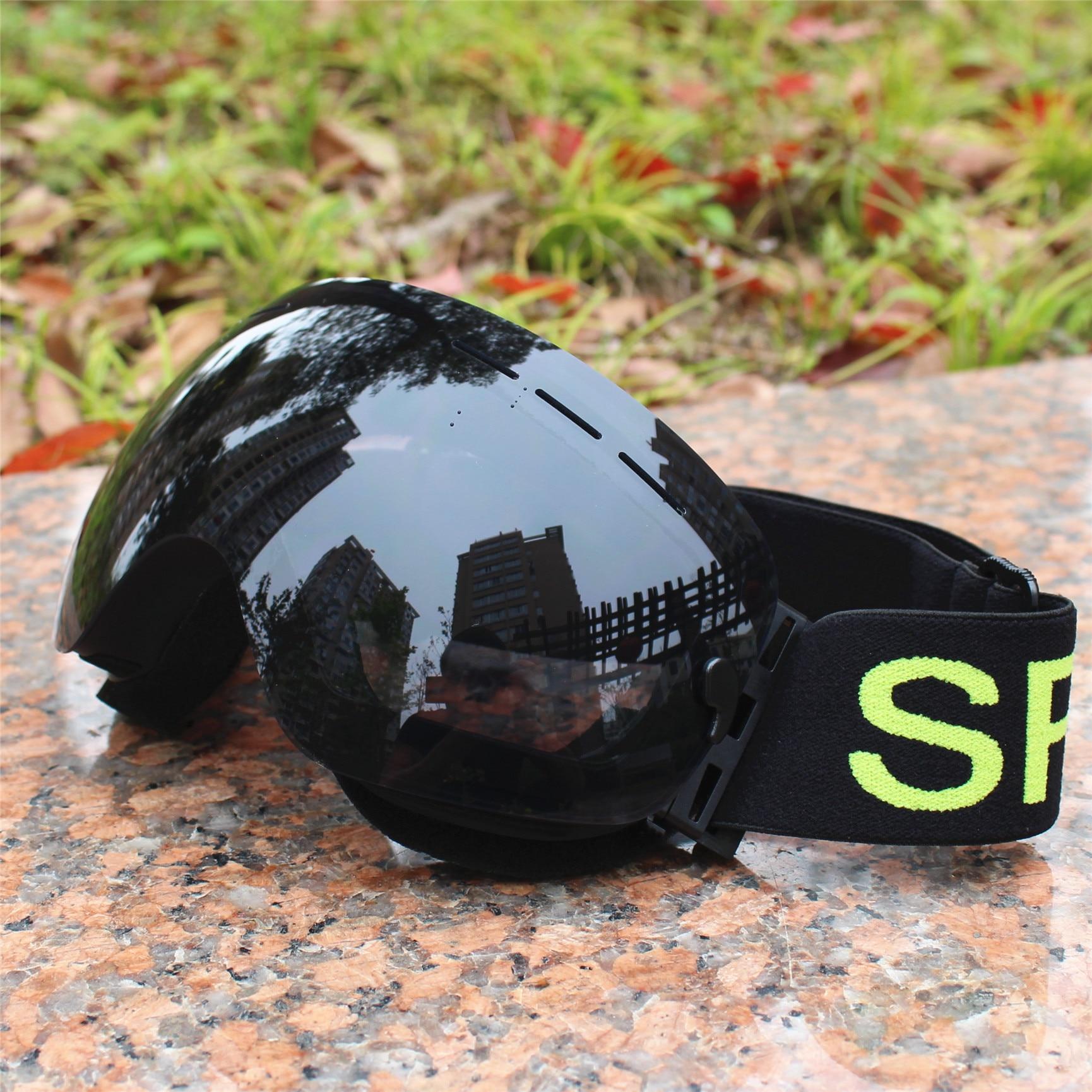 Big lens ski goggles layer UV400 anti-fog big ski mask glasses sunglasses skiing men women snow snowboard цена