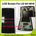 10pcs/lot Free DHL 5.5 inch HD 2560x1440 LCD Display touch screen glass Digitizer assembly with frame For LG G4 Dual H818