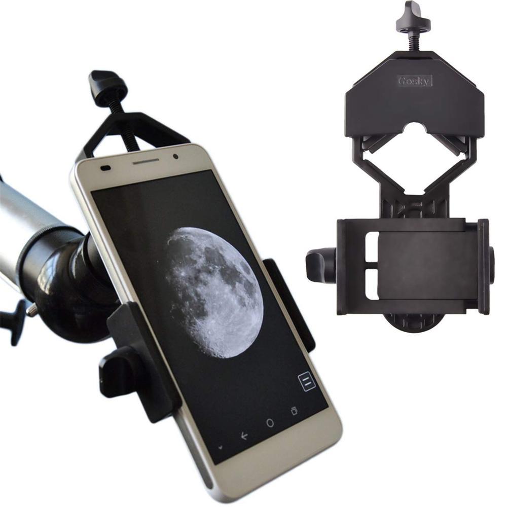 gosky universal telefone celular adaptador de montagem compativel binocular monocular spotting escopo telescopio microscopio se