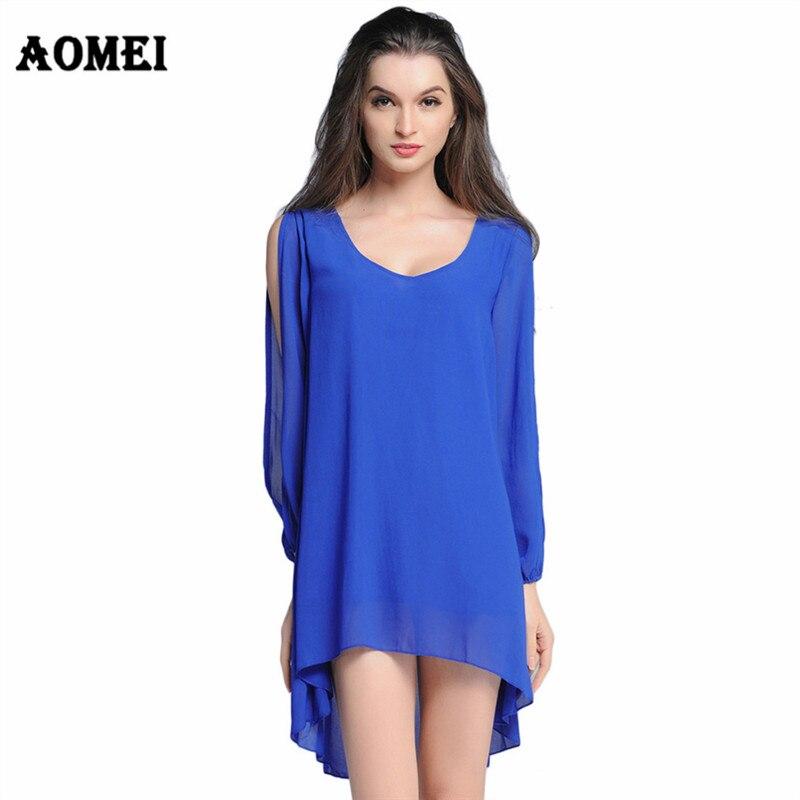 Women Summer Casual Loose Dress Jupe Chiffon Boho Dresses Split ... f876798f29f6