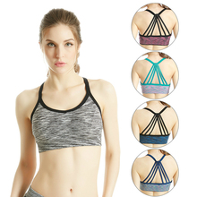 Quick Dry Sports Active Bra Push Up Wear Tops Shockproof for Women Gym Brassiere Sport Cross Crop Top Female