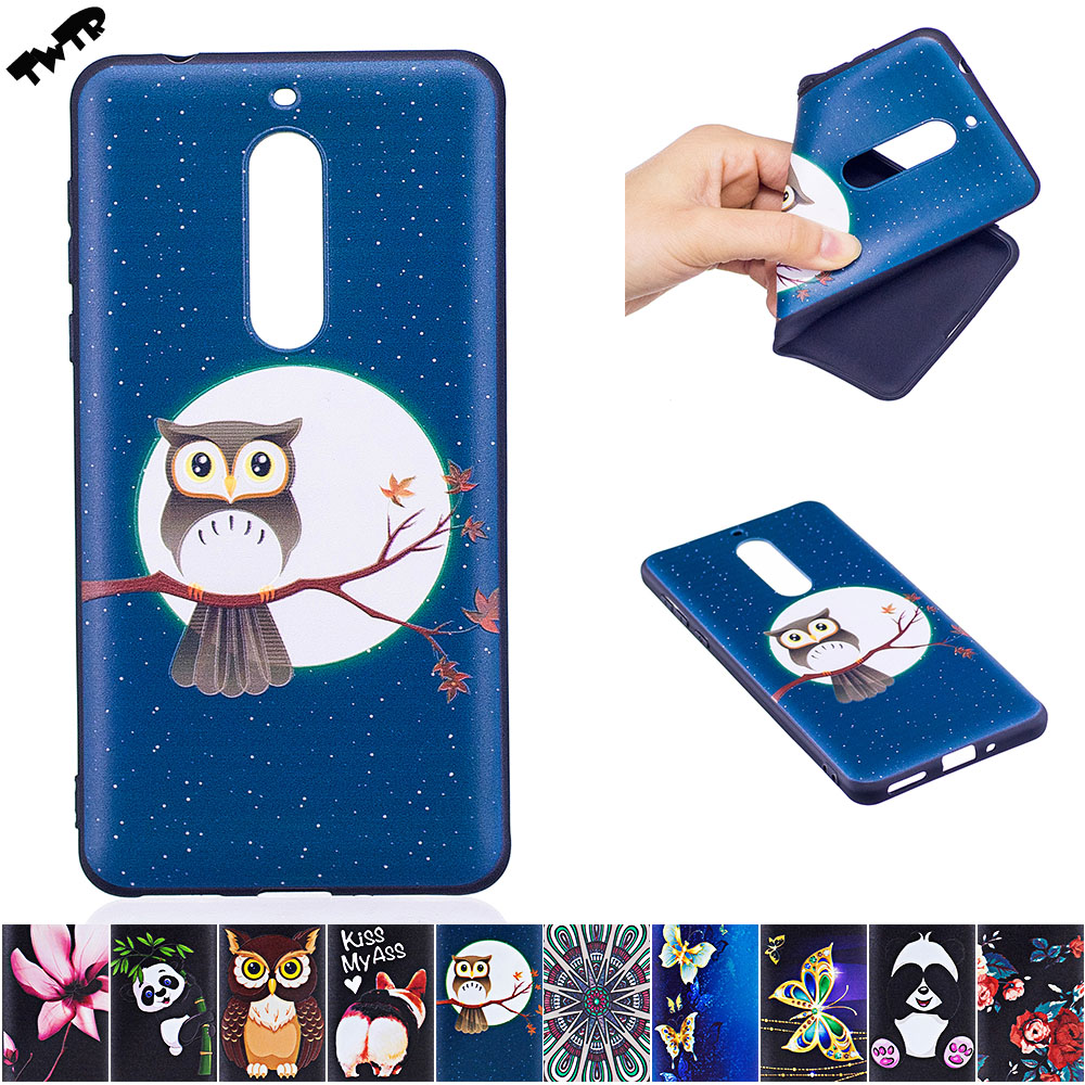 Case for Nokia5 <font><b>TA</b></font>-<font><b>1053</b></font> <font><b>TA</b></font>-1024 Case Phone Leather Cover for Nokia 5 Global Dual <font><b>TA</b></font> <font><b>1053</b></font> TLA 1024 Silicone Cases 3D tpu bumper image