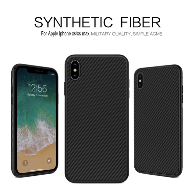 info for 97646 1722f US $11.13 23% OFF|For Apple iphone xs Case NILLKIN Synthetic fiber back  cover case PP back shell for iphone XS MAX phone case protective cover-in  ...