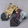8 cm Marrom Laços Para Homens Novidade Dos Desenhos Animados Laço Dos Homens da Festa de Casamento Gravata Corbata Gravata Musical Para Acessórios Terno Cravate