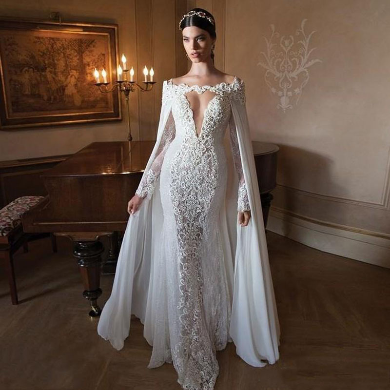 New Design Fashion Mermaid Charming Lace Applique Wedding