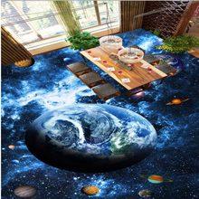 983b1a3d62 Frete Grátis espaço universo planeta Quarto banheiro sala de estar Piso 3D  papel de parede mural auto-adesivo adesivo chão