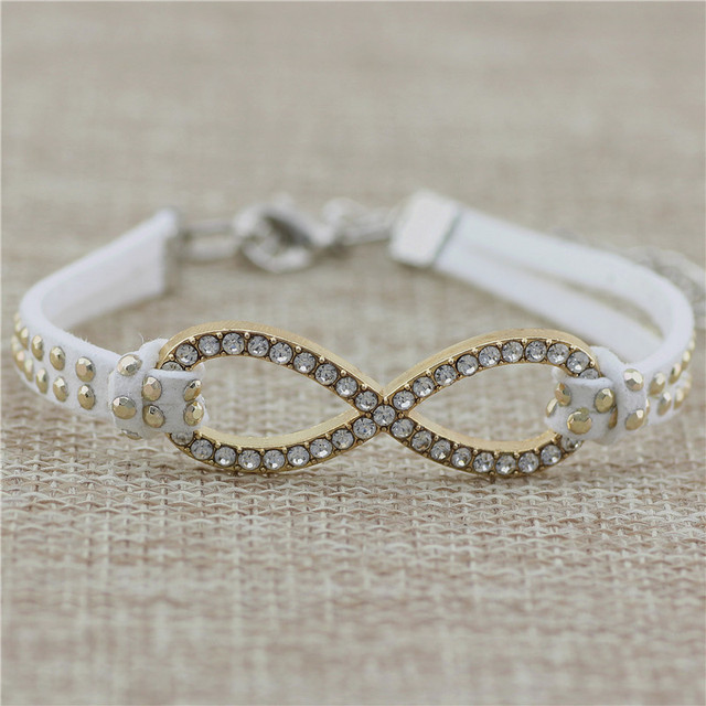 dp cut diamond polished interlock gold infinity ct white quot and jewellery bracelet symbol