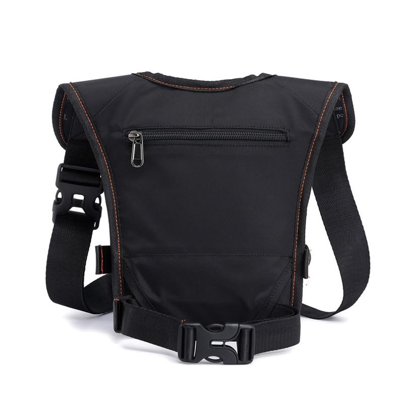 Men Waterproof Nylon Drop Leg Bags Thigh Hip Bum Belt Bag Waist Fanny Pack Boys Travel Riding Motorcycle Crossbody Shoulder Bags 2