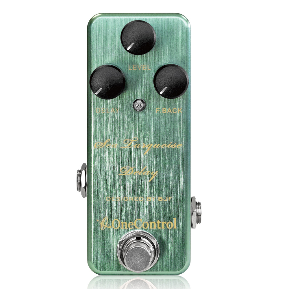 Japan One Control BJF Sea Turquoise Delay Guitar Effect Pedal japan one control bjf little copper chorus guitar effect pedal