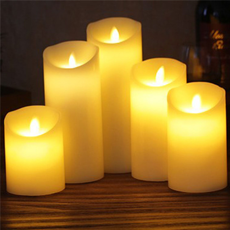 Novelty LED Candle With Long Lasting Bright Light Flameless LED Candle Set AAA Battery Power With Paraffin Material Led Light