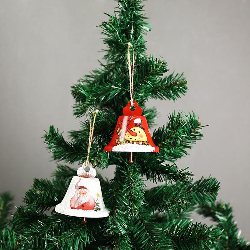 GREEN METAL BELL CHRISTMAS TREE ORNAMENT DECORATION