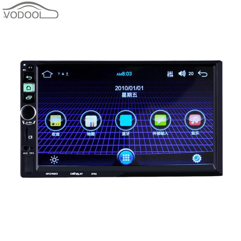 7 2 DIN Сенсорный экран ЖК-дисплей Bluetooth android-автомобильный MP5 мультимедийный плеер FM Радио Wi-Fi GPS Навигатор Авто Радио sp. Заднего вида Камера
