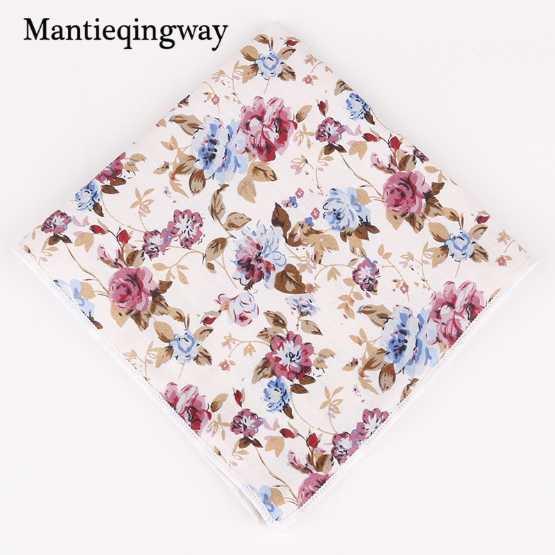 Mantieqingway Cotton Pocket Square Mens Pocket Squares Formal Business Suit Wedding Party Handkerchiefs Ladies Pocket Hanky