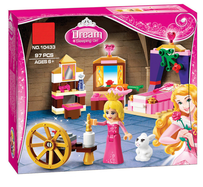 цена на BELA Friends 10433 For Girl Sleeping Beauty Bedroom Building Blocks Sets Princess Toy Bricks Compatible With 41060 Xinh