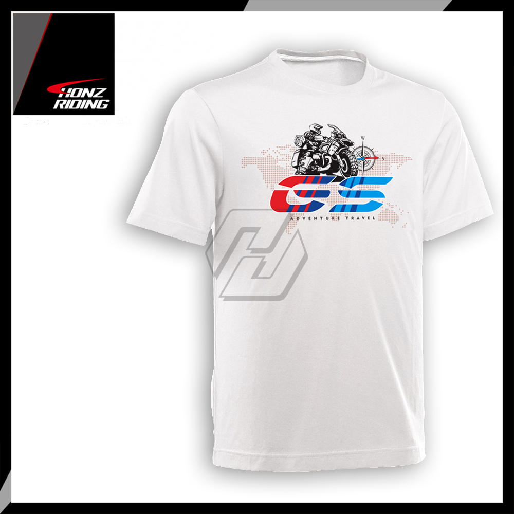 For <font><b>BMW</b></font> F650GS F700GS F800GS F850GS G310GS R1200GS Adventure <font><b>T</b></font> <font><b>Shirt</b></font> O-Neck Printed <font><b>T</b></font>-<font><b>Shirt</b></font> Short Sleeve <font><b>T</b></font>-<font><b>Shirt</b></font> image