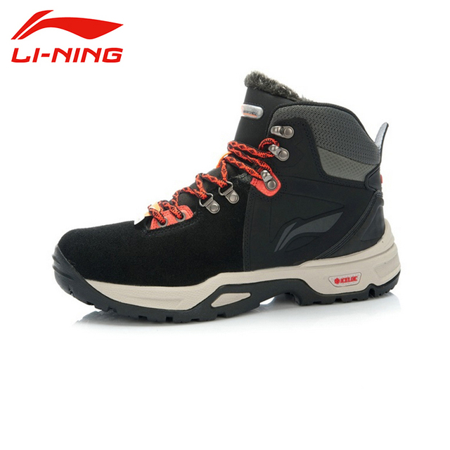 LI-NING New Winter Outdoor Lceloc Warm Shell Technology Keep Dry Coldproof Sport Shoes Sneakers Walking Shoes Men AHTJ021 XYD062