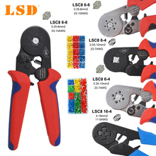 wire sleeves Crimping Pliers Wire Stripper Crimper Ferrule crimping tool clamp Pliers Set and 1200 pcs Terminals Kit HSC8 tools