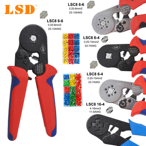 Image 1 - wire sleeves Crimping Pliers Wire Stripper Crimper Ferrule crimping tool clamp Pliers Set and 1200 pcs Terminals Kit HSC8 tools