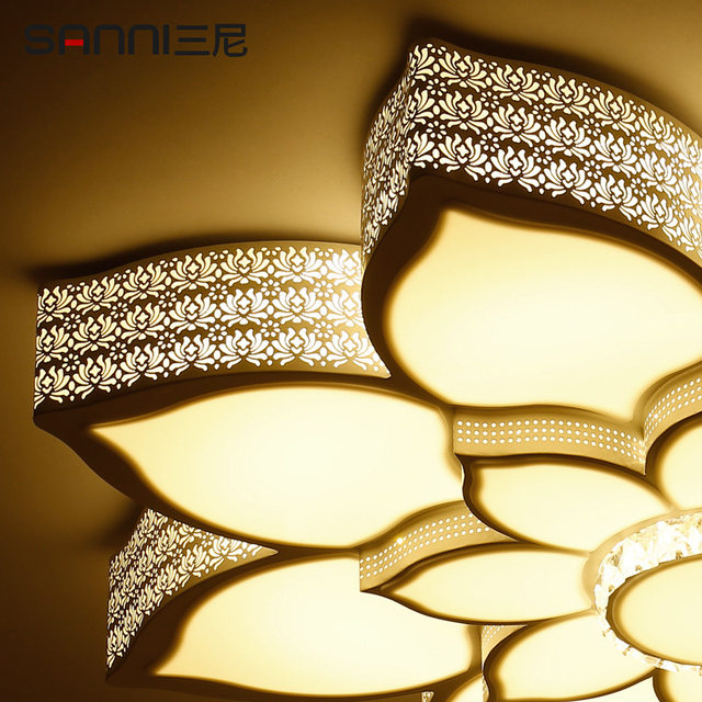 Online shop lotus crystal led ceiling lamp home living room bedroom lotus crystal led ceiling lamp home living room bedroom study restaurant lights commercial places illumination ceiling light aloadofball Images